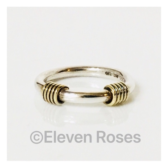 23c337e35 Tiffany & Co. Jewelry | Tiffany Co Sterling 18k Wire Wrapped Stack ...